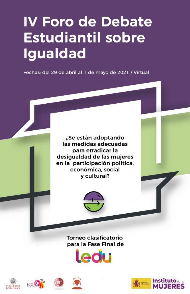 Foro De Debate Estudiantil Sobre Igualdad, clasificatorio para la Liga Española de Debate Universitario (LEDU)