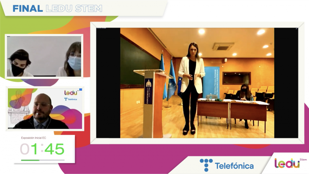 La Universidad Politécnica de Madrid, ganadora de LEDU STEM Cátedras Telefónica