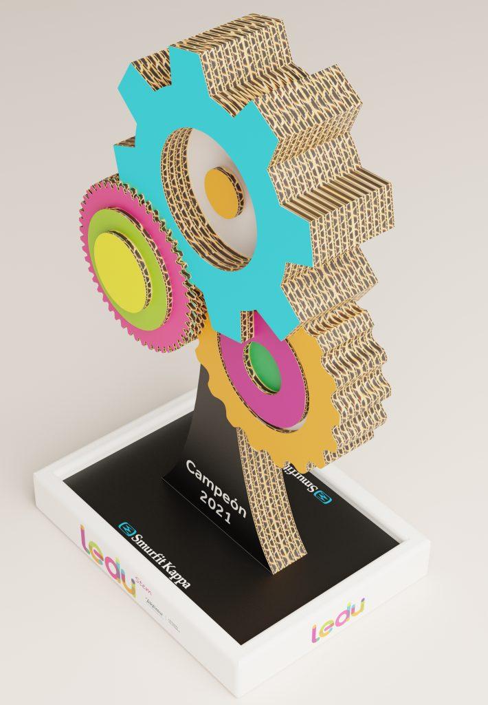 Smurfit Kappa diseña el trofeo de LEDU Stem Cátedras Telefónica